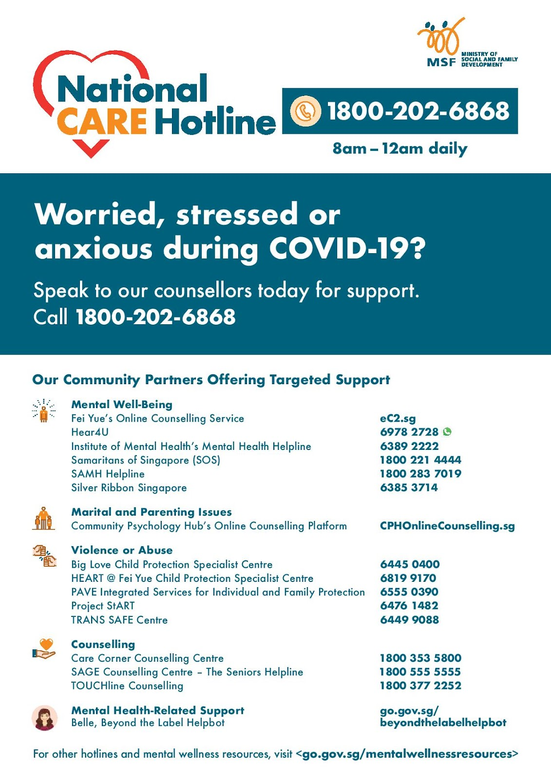Singapore, National care hotline, Hijrah meaning