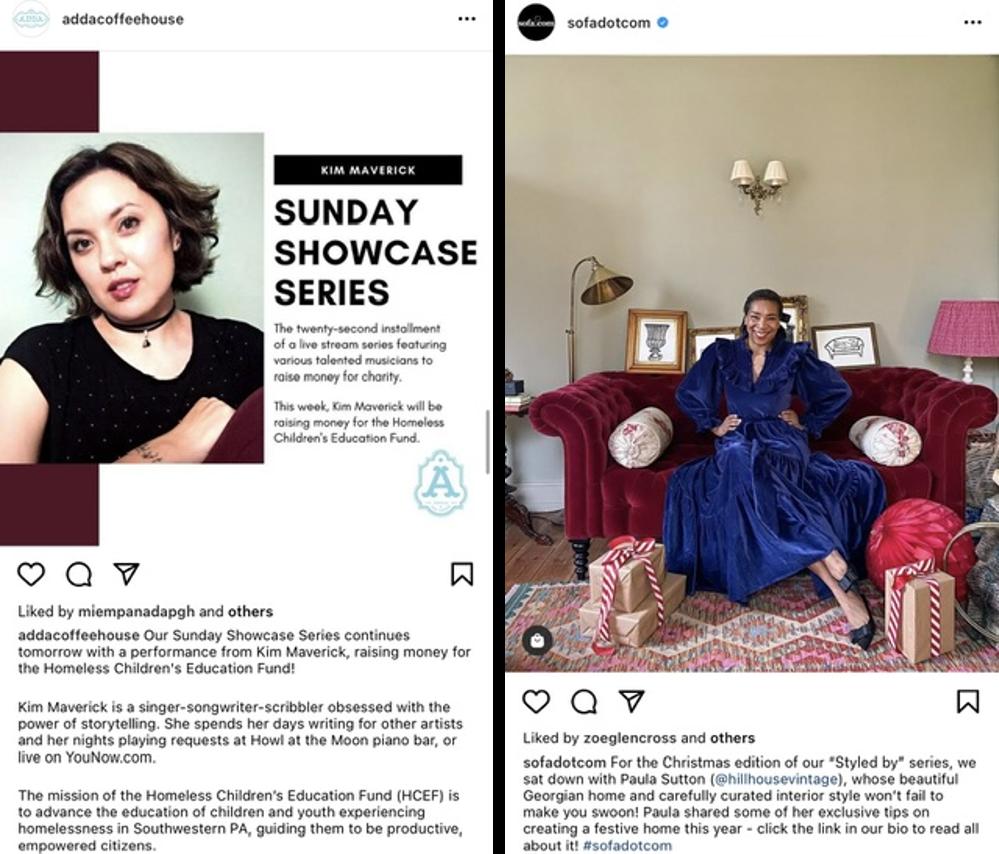 Relacje na Instagramie – zrzuty ekranu