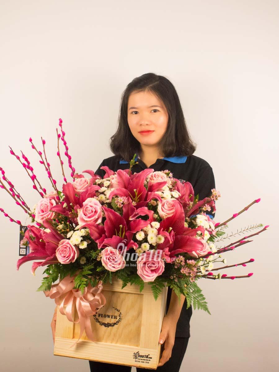 hộp hoa tặng người yêu