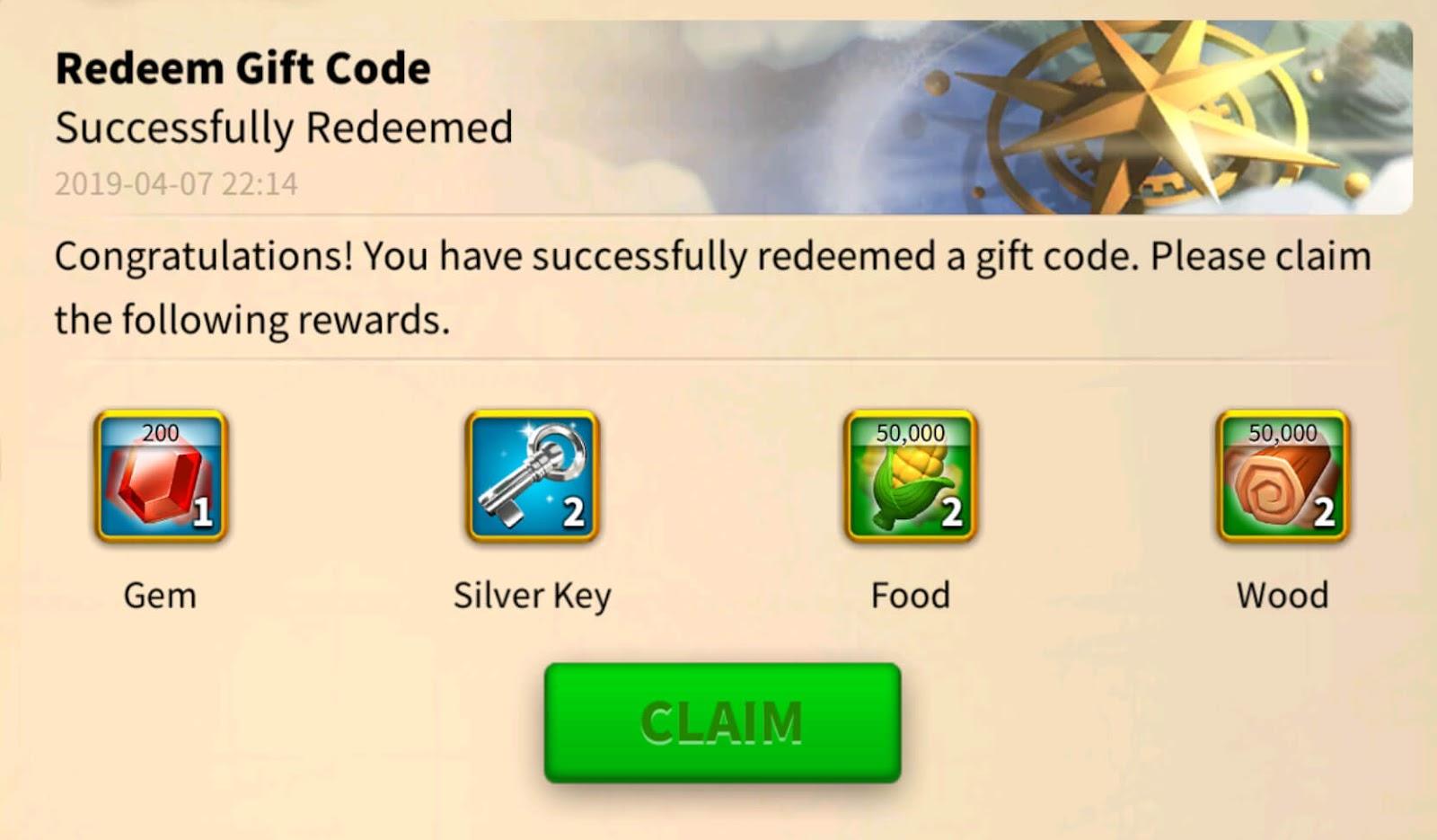 redeem gift code