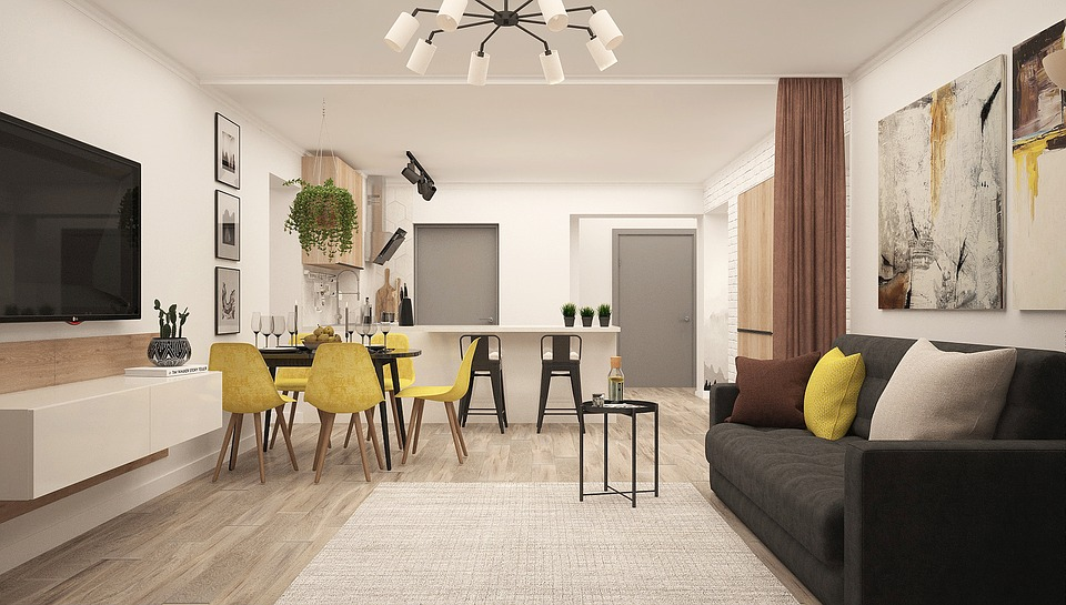 Living room with modern decor