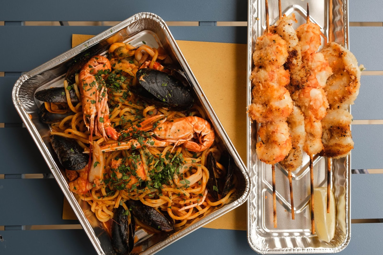 two-in-one seafood