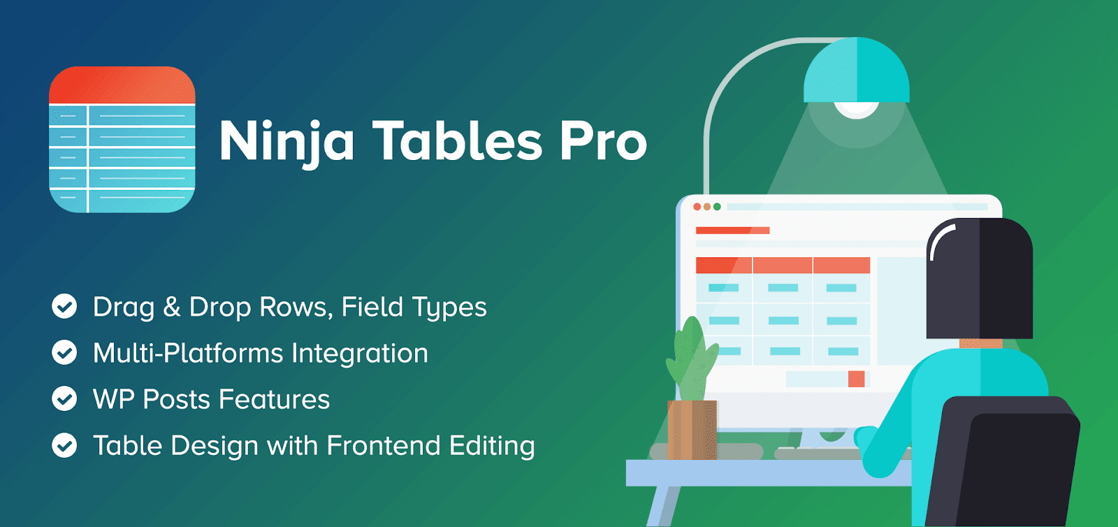 ninja tables, best lightweight wordpress plugin