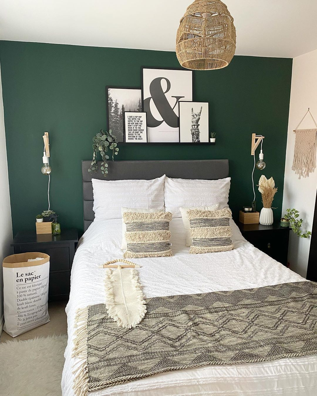 Build A Classic Vibe with Dark Green Bedroom