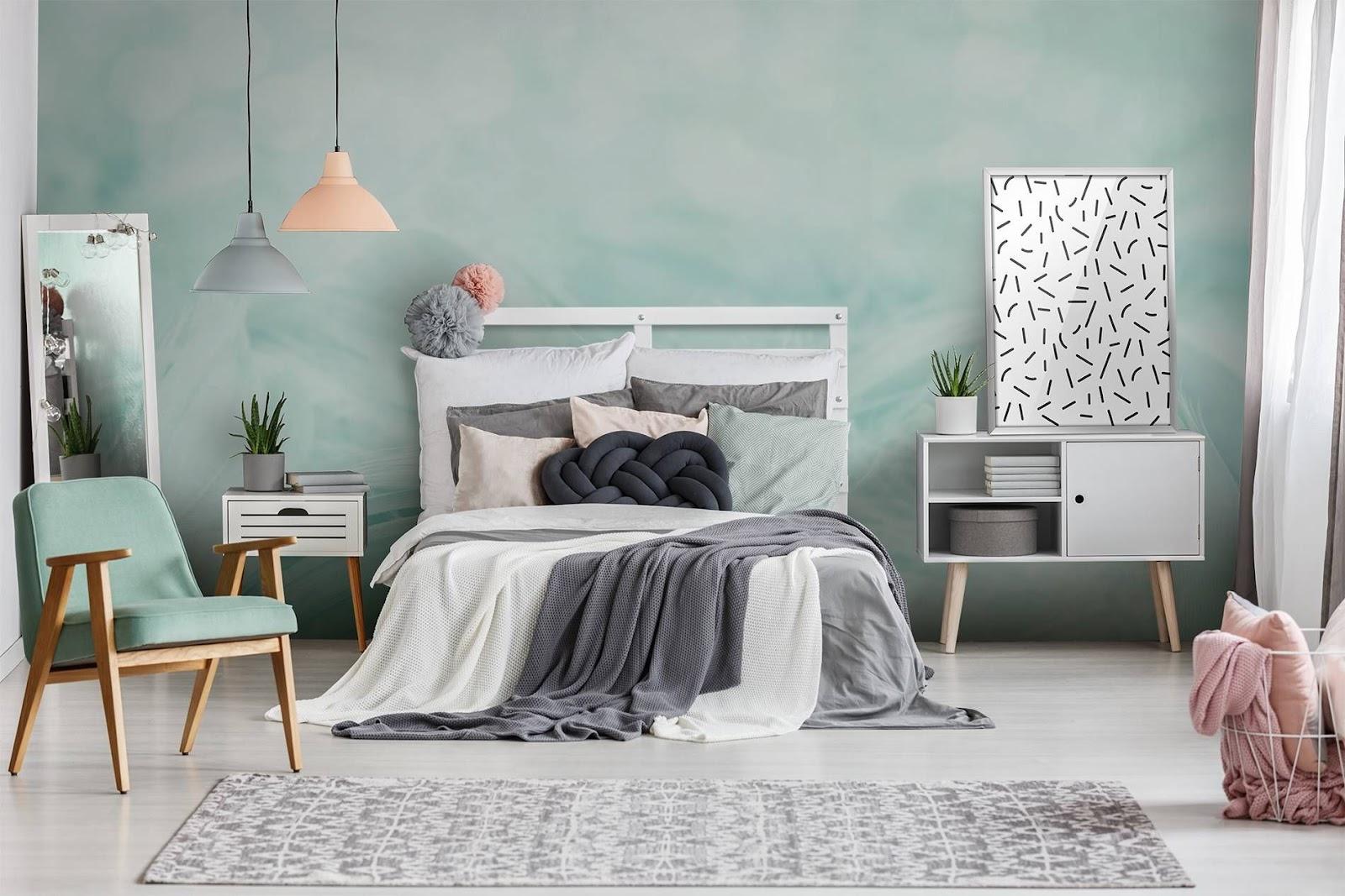 A Subtle Marble Backdrop for Bedroom