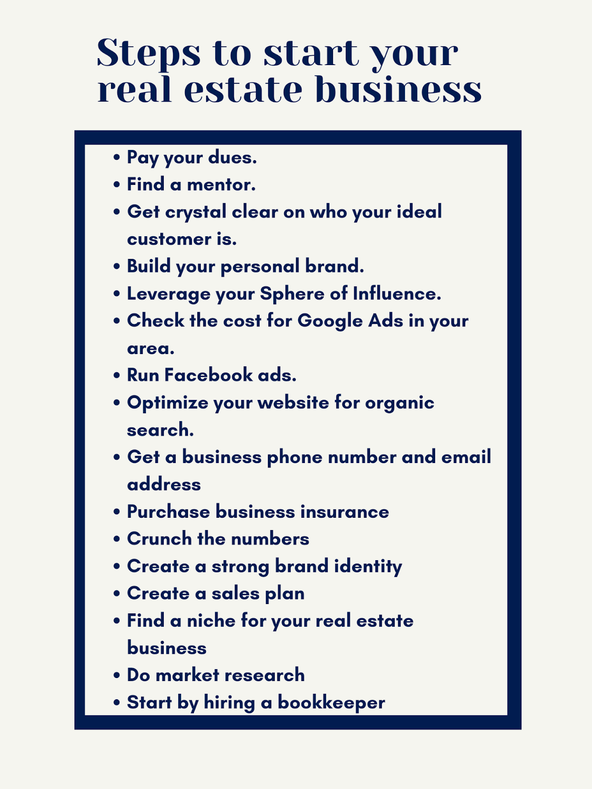 Steps to start business - 2