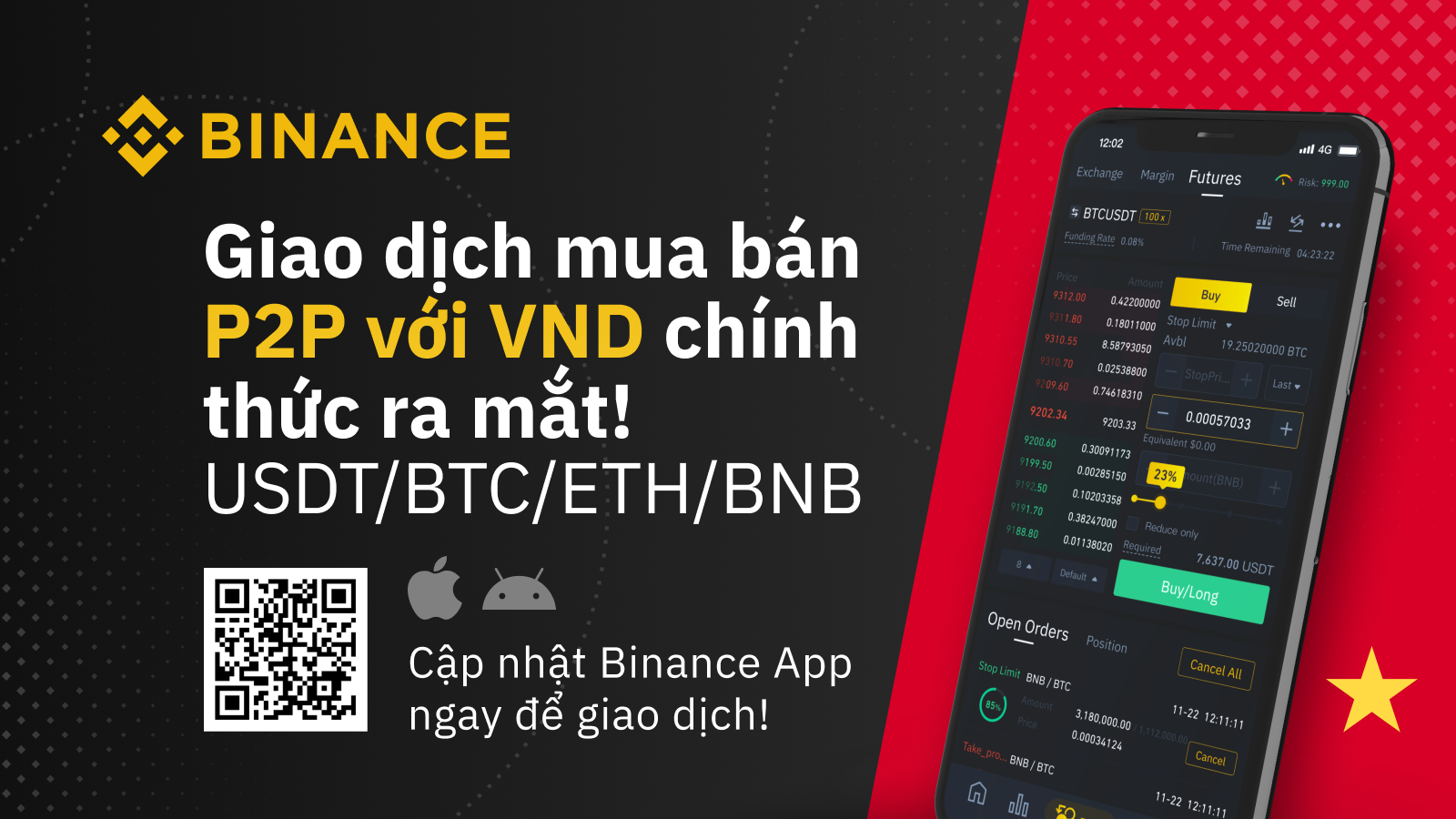 Nền tảng Binance P2P chính thức hỗ trợ Việt Nam Đồng (VND)