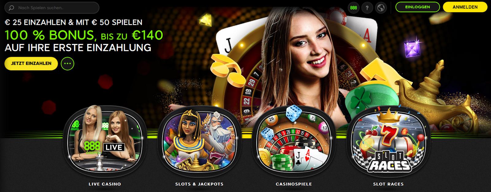 Die offizielle Casino 888 Webseite