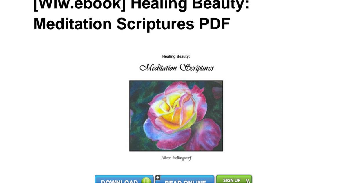 WIw ebook] Healing Beauty Meditation Aileen Stellingwerf
