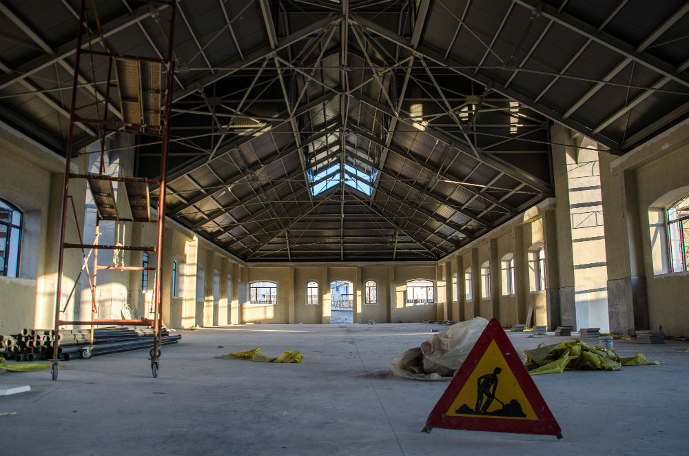'Sgafeia' Interior under construction, Thessaloniki, Greece