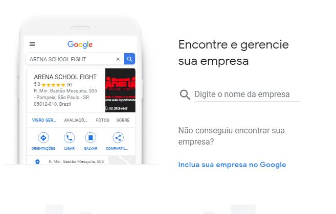 adicionar empresa no google