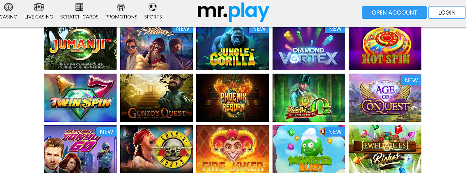 mr.play Casino is one of the best 200 deposit bonus casinos