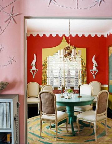 Dining Room with Color