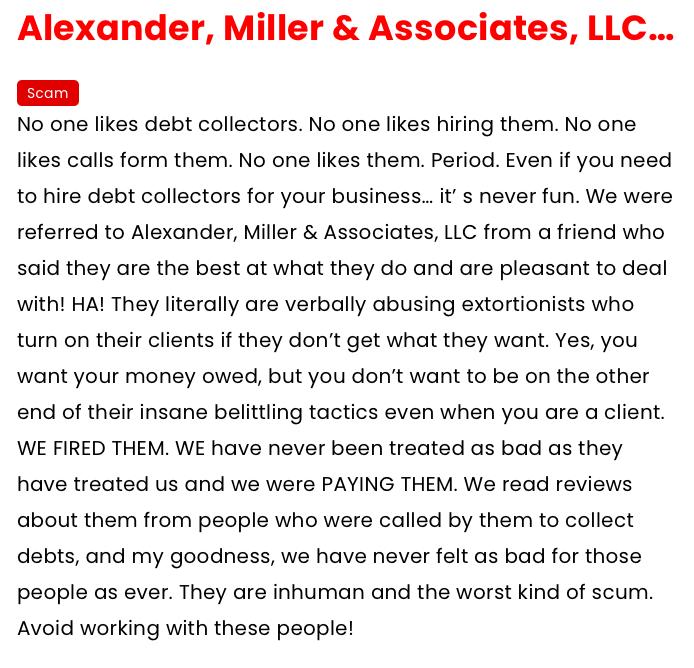 Alexander Miller associates