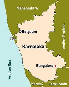 Belgaum location at Maharashtra and Karnataka Border