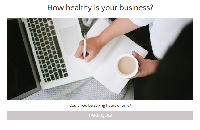 quiz cover with How healthy is your business?