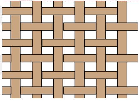 Figura 1: ejemplo de patrón de fibra preimpregnado