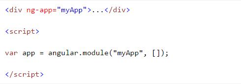 Creating an angularjs module