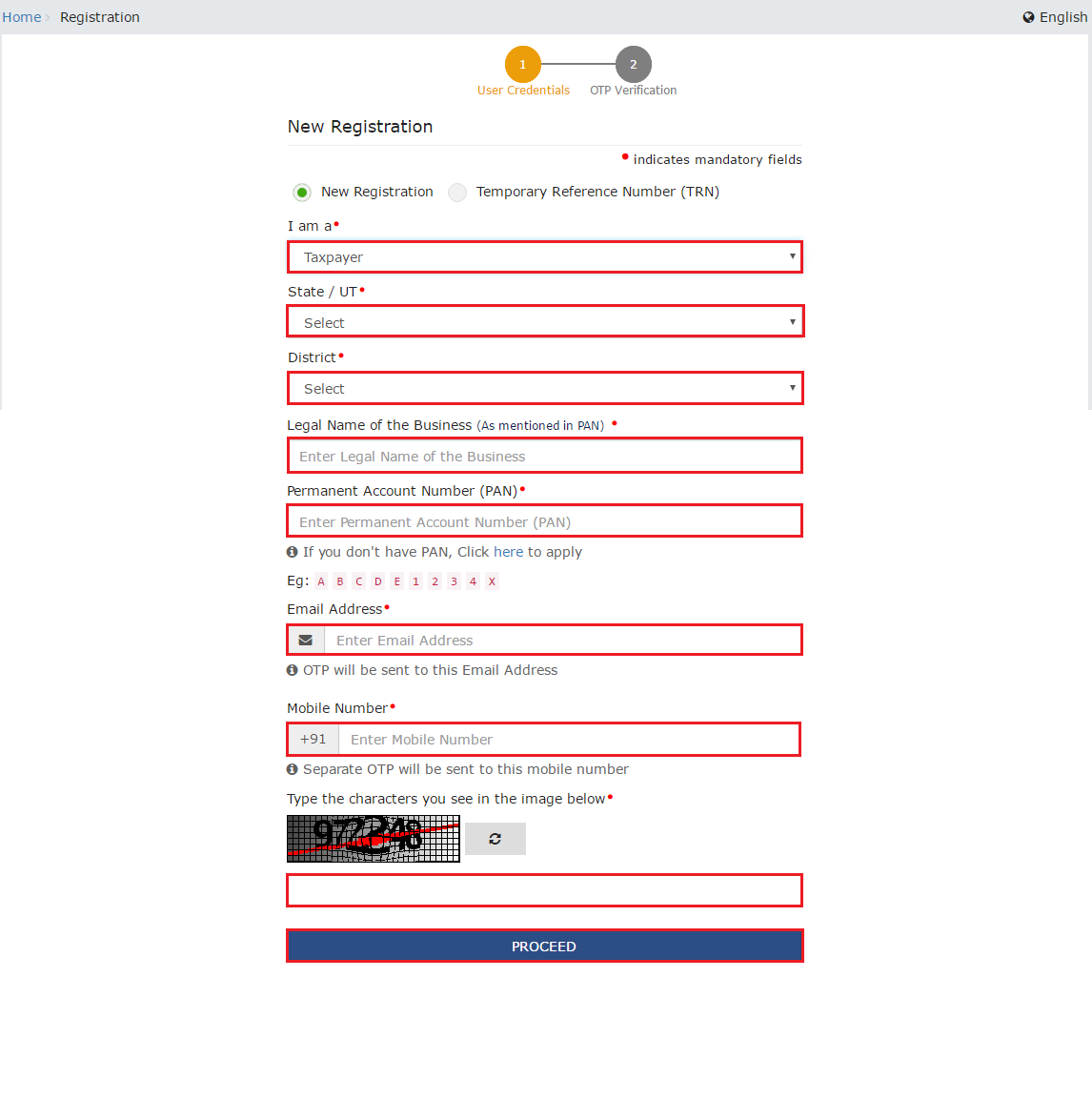 GST registration steps - 3