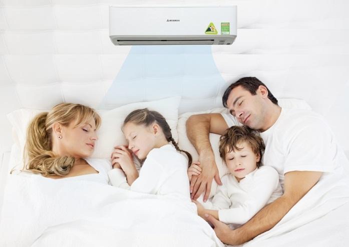 Ngủ điều hòa gây ho, đau họng