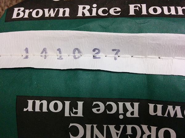 Organic Brown Rice Flour, 25 lb. bag with Date Code
