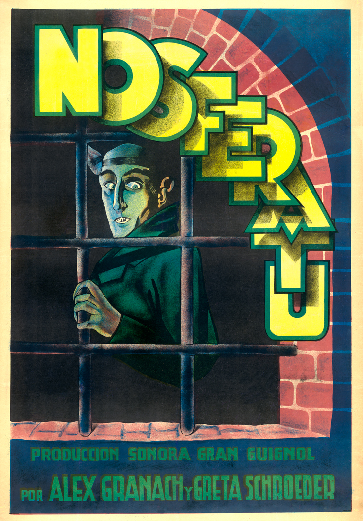 Artist in Spain, Nosferatu movie poster, 1922. Chromolithograph on paper, Collection of Kirk Hammett.
