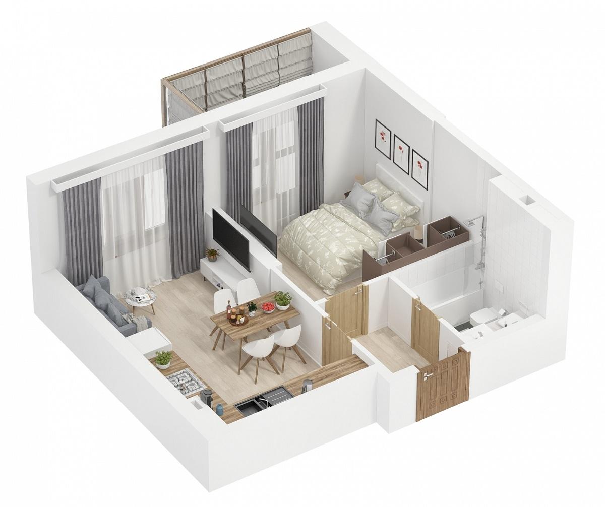 Схема ремонту однокімнатної квартири