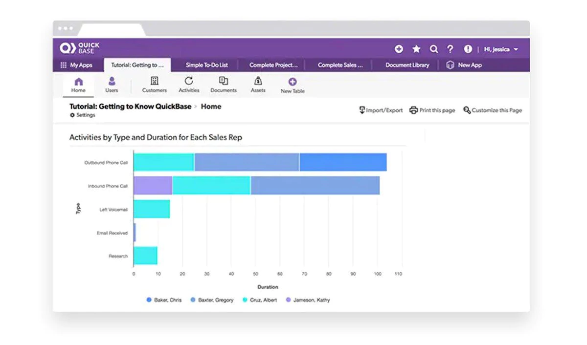 Quick Base Review CRM Tool Bubble