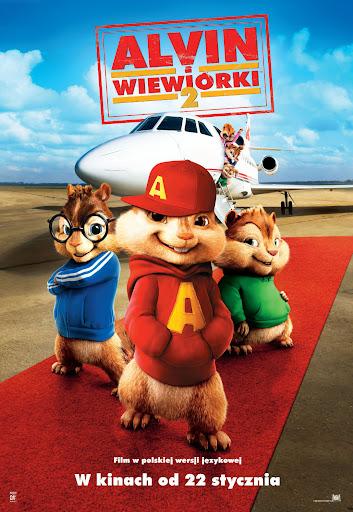 Polski plakat filmu 'Alvin i Wiewiórki 2'