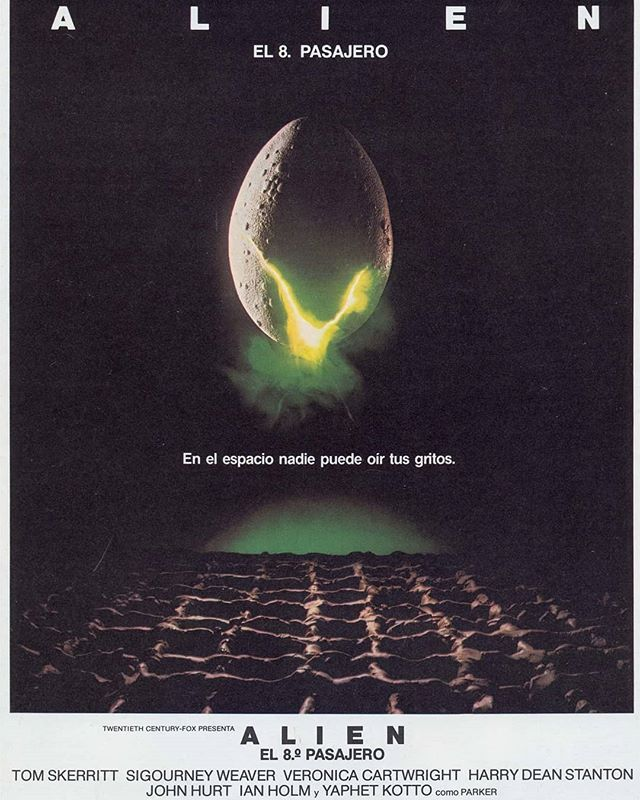 Alien, el octavo pasajero (1979, Ridley Scott)