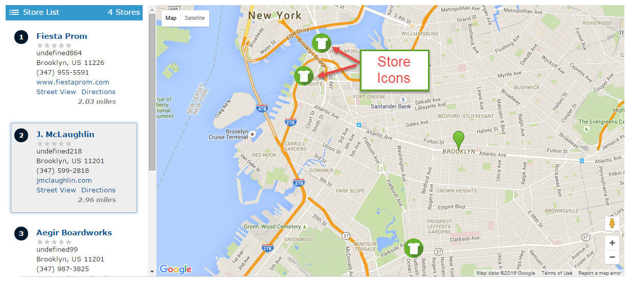 Magento store locator customization