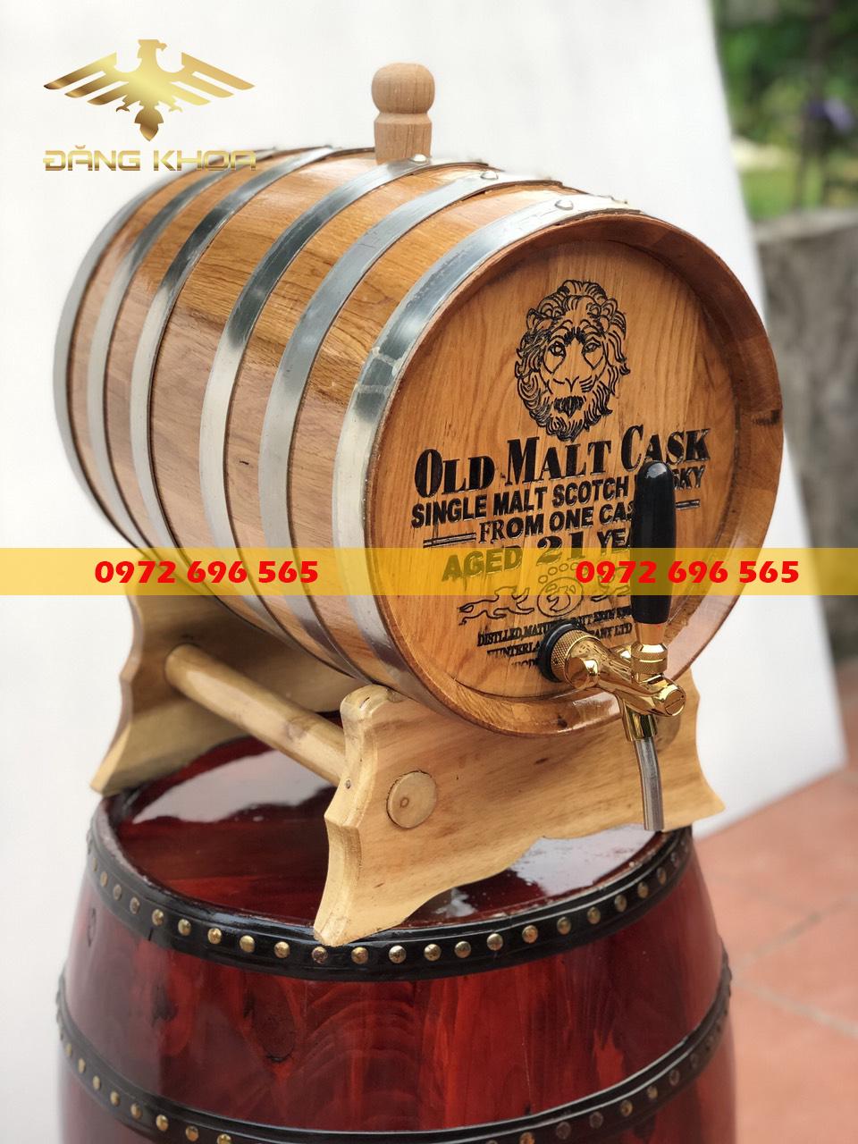 Giá của thùng gỗ ngâm rượu khá hợp lý trên thị trường