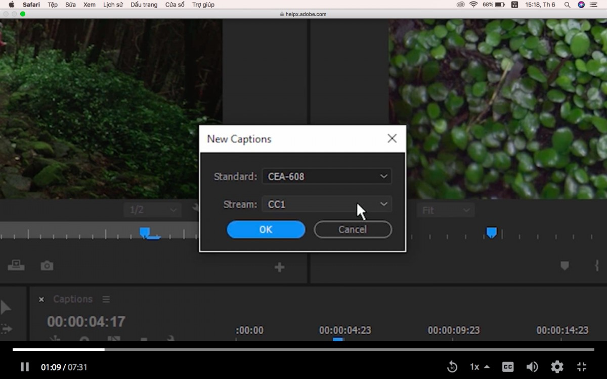 Cách làm sub video bằng Adobe Premiere