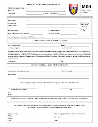 Borang Pendaftaran M01