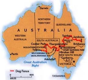 Billedresultat for dingo fence australia map