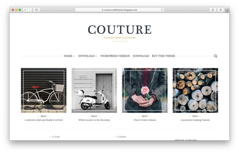 Template Blogger Responsive Couture