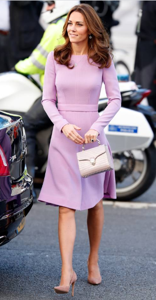 Knee length dress worn by Kate