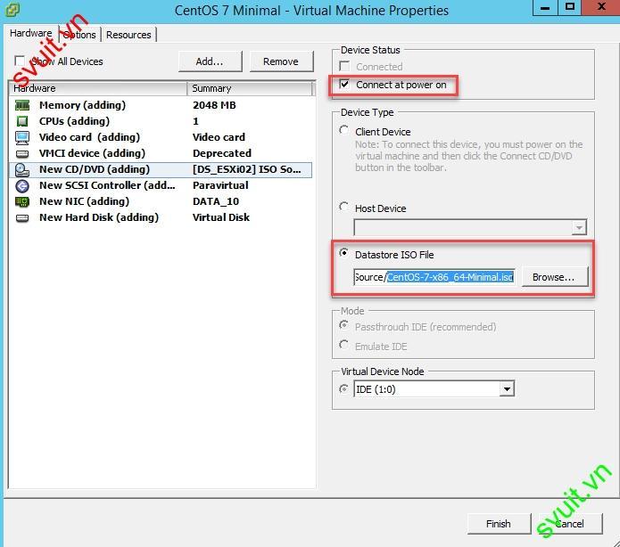 Install CentOS 7 Minimal on VMware vSphere 6.5(10)