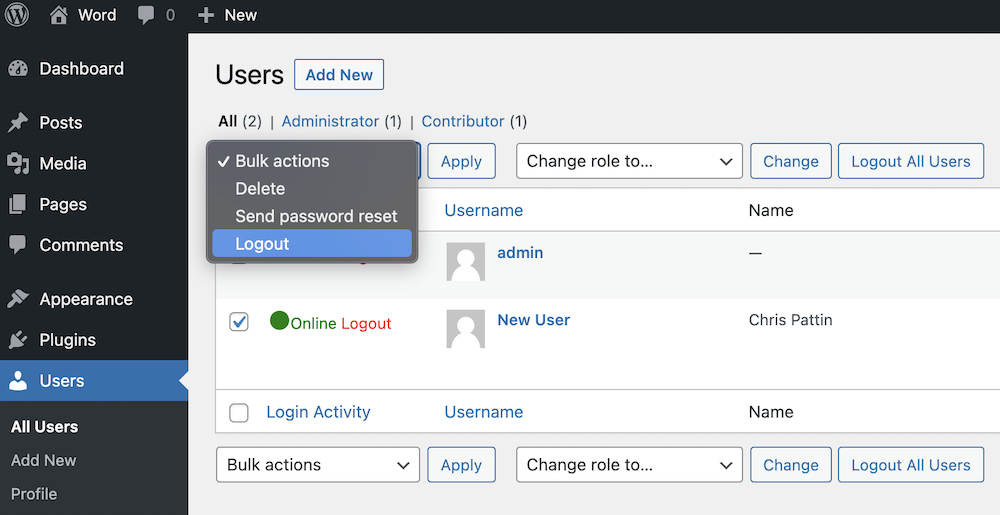 Force Log out Users From WordPress Sites