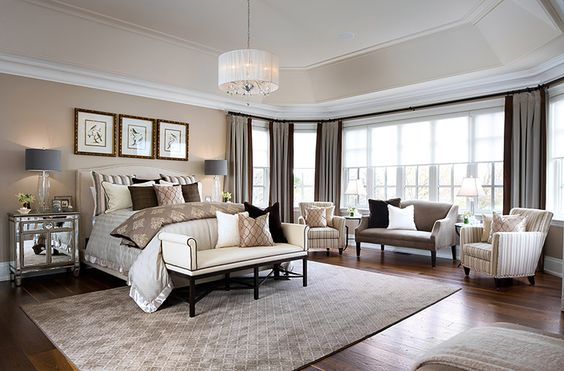 Design a Sitting Area with a Vintage Look in Master Bedroom