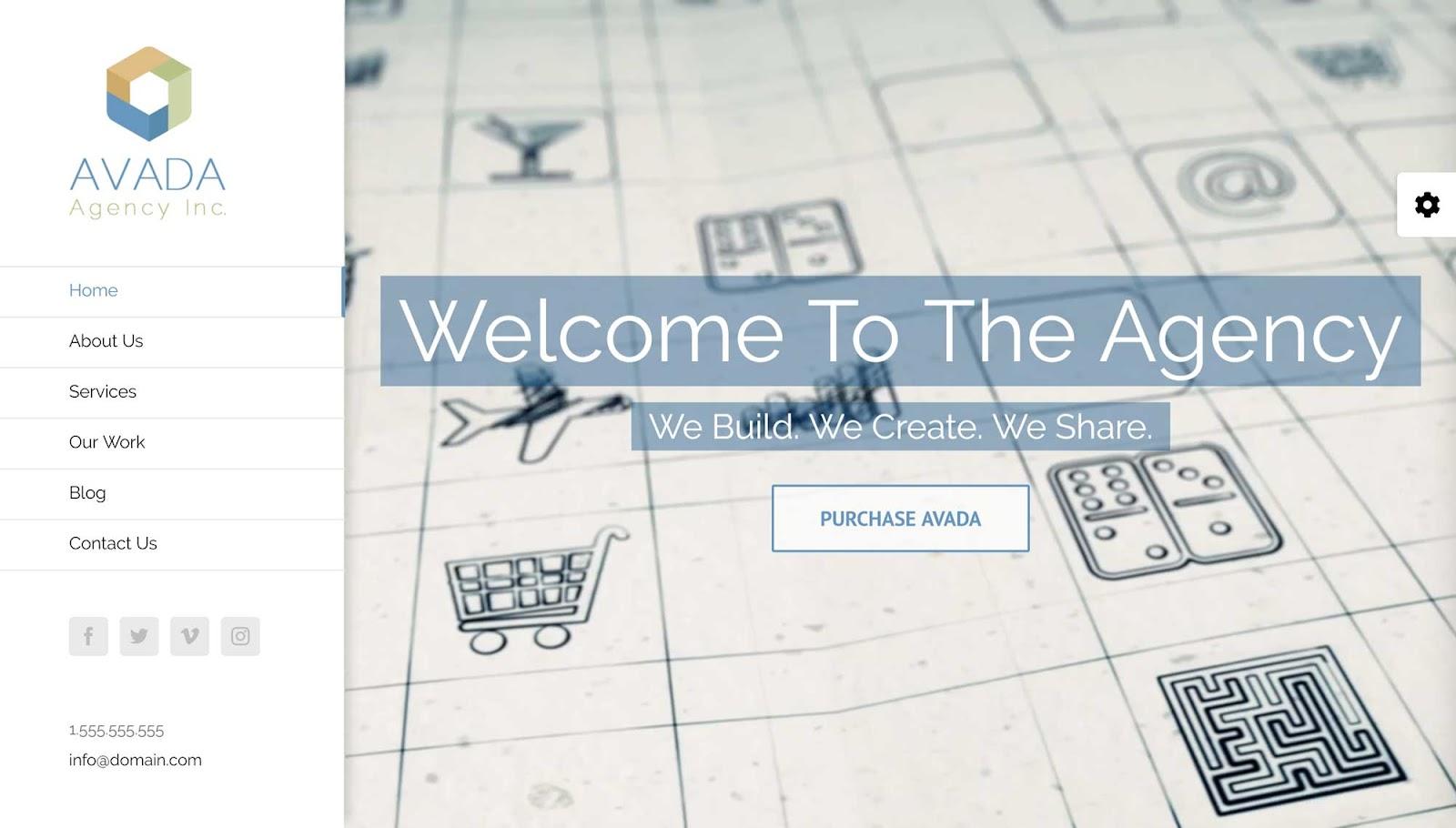 Avada Theme Agency Trang chủ Demo