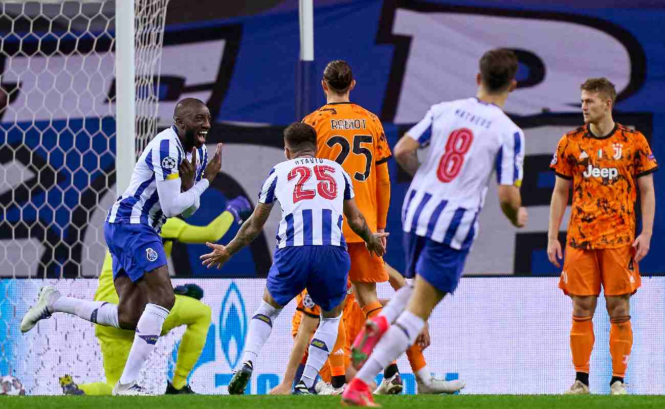 Moussa Marega of FC Porto celebrates after scoring - Photo by Jose Manuel Alvarez/Quality Sport Images/Getty Images