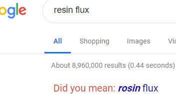 resin flux