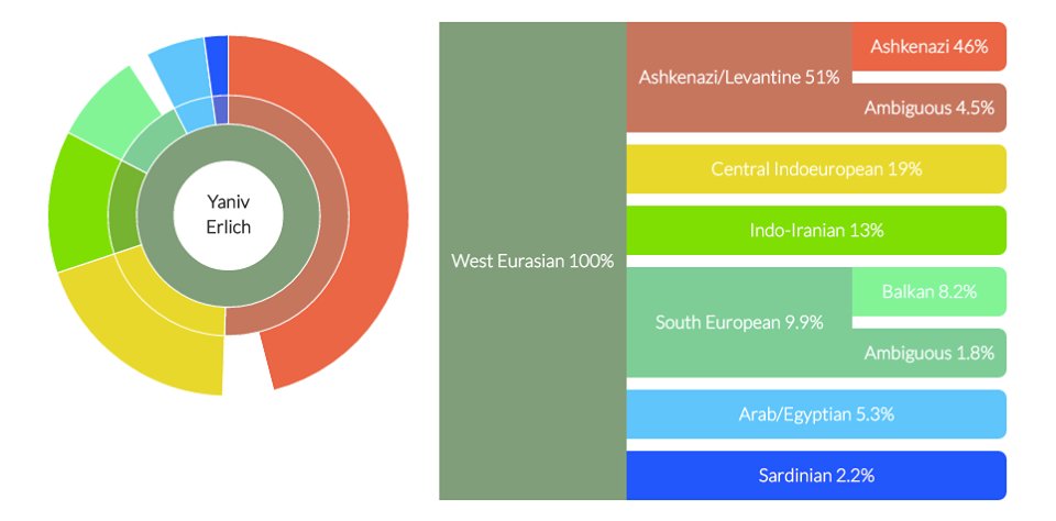 DNA Land Ancestry report