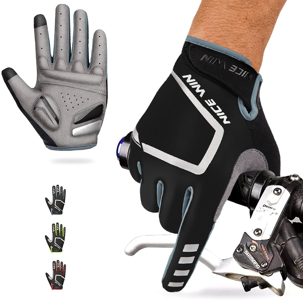 Mountain bike gloves provide a more comfortable grip with less friction and less sweat.