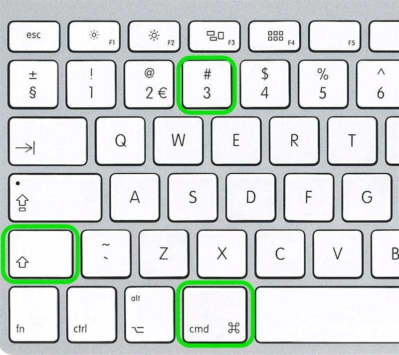 Cách chụp màn hình trên MacBook đơn giản mà chụp được toàn màn hình: sử dụng tổ hợp phím Command + Shift + 3 để chụp ảnh toàn màn hình và lưu ảnh đã chụp vào máy tính.