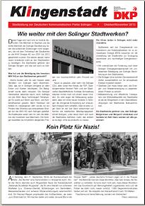 Faksimile Titelblatt. »Klingenstadt«.