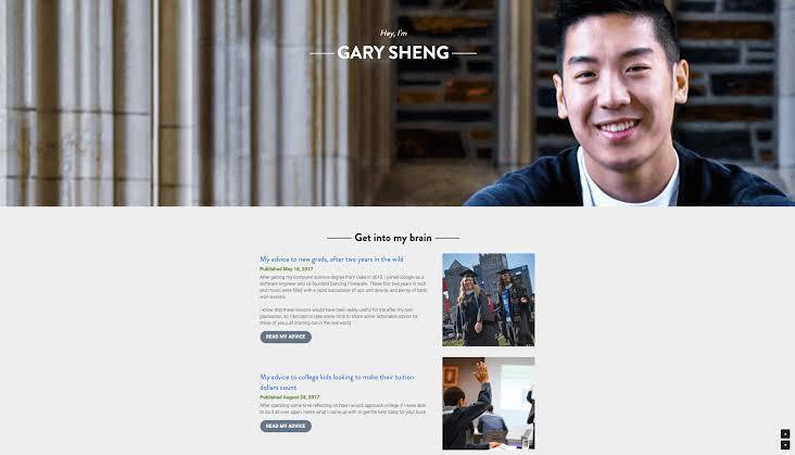 Gary Sheng personal website