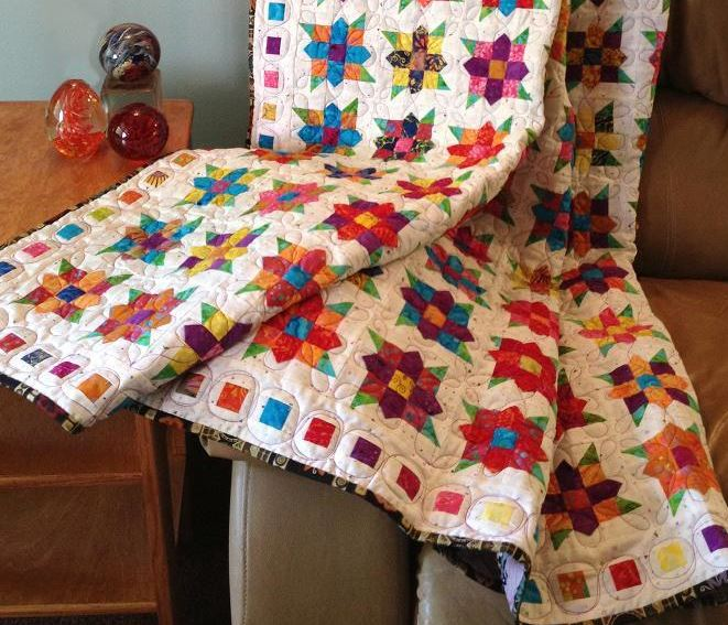 Flowers Square Quilt Pattern Available On Craftsy