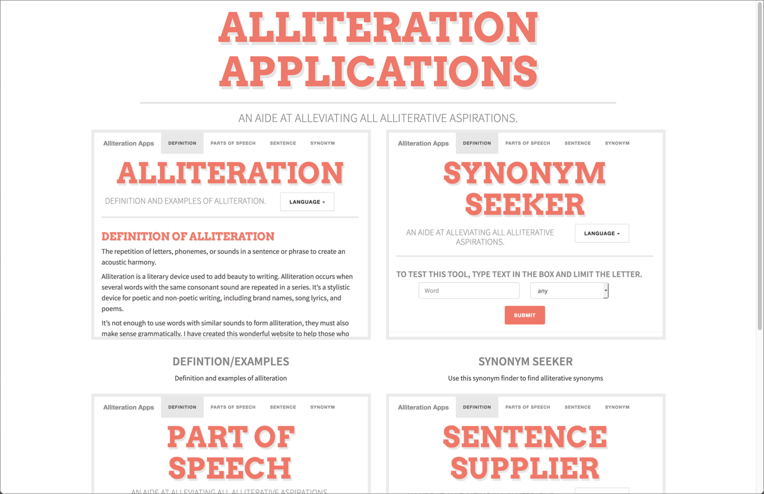 alliteration generator for a catchy blog name